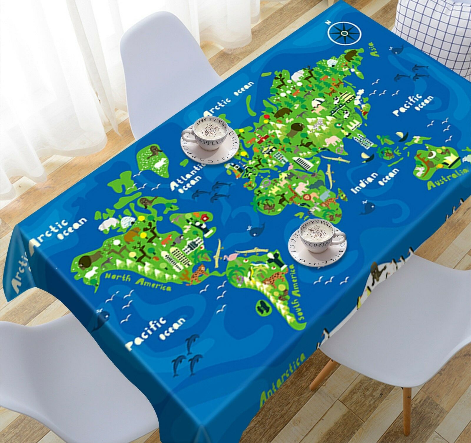 3D vert Map 055 Tablecloth Table Cover Cloth Birthday Party Event AJ Lemon