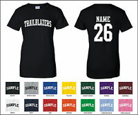 Trailblazers Custom Personalized Name & Number Woman's T-shirt