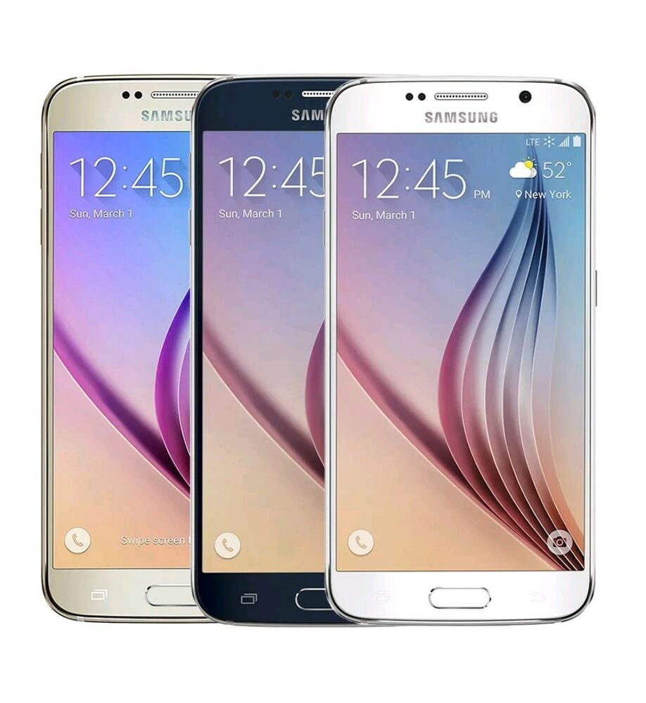 Samsung Galaxy S6 SM-G920P - 32GB - Gold Black White (Sprint) Smartphone A