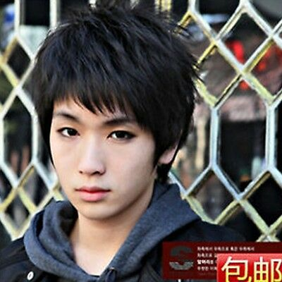 New Short Black Fashion Man Wig High Temperature Wire Wig Hair