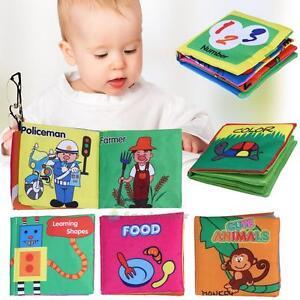 Kids Animal Cloth Book Infants Baby Intelligence Development Toys Bed Cognize GA