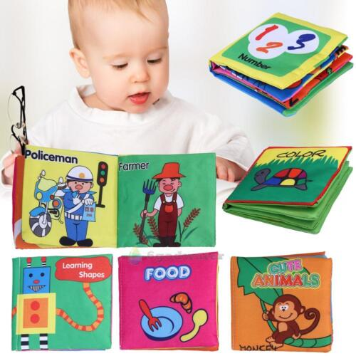 Infant Baby Child Intelligence Development Cloth Book Cognize Book Kid Learn Toy