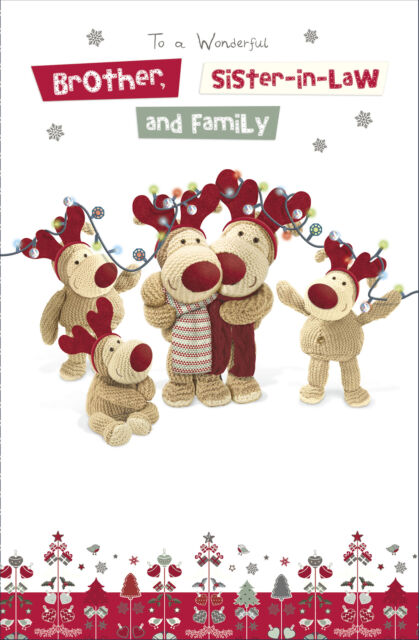 Boofle To A Lovely Daughter Son-In-Law /& Family At Christmas Greetings Card