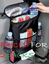 2 PackAuto/Car Seat Back Multi USE Organizer Storage Bag Travel Pocket Holder