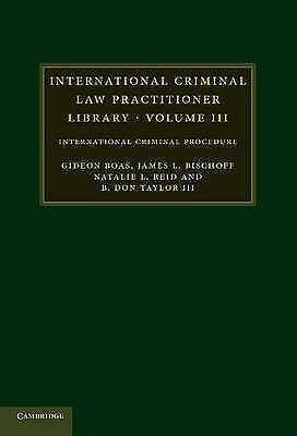 1 of 1 - International Criminal Law Practitioner Library Volume III HBck Excellent Condn.