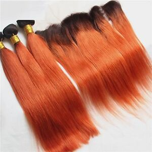 Luxury brazilian straight orange red 350 dark roots hair image is loading luxury brazilian straight orange red 350 dark roots pmusecretfo Image collections