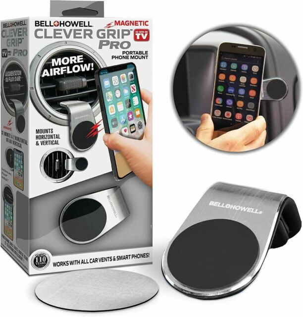 Bell+Howell Clever Grip-Pro Dash Mount Phone holder up to 6.3inch wide phones