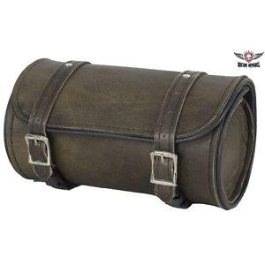 Motorcycle Tool Bag >> Motorcycle Tool Bag 10 Distressed Dark Brown Leather Universal