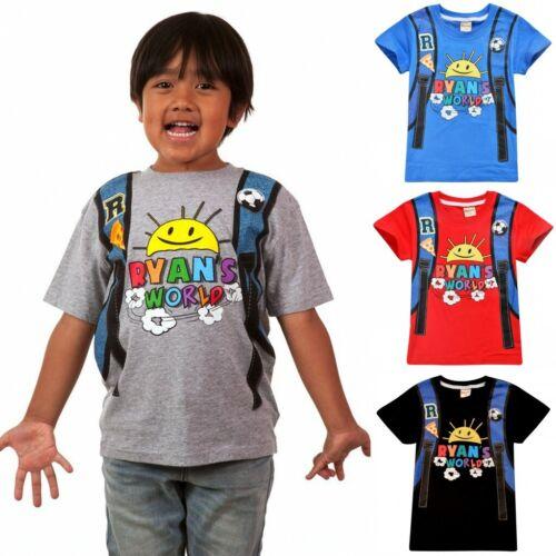 Summer Ryan Toys Review Kids T Shirt Ryan/'s World Cartoon Short Sleeve Tops Tee