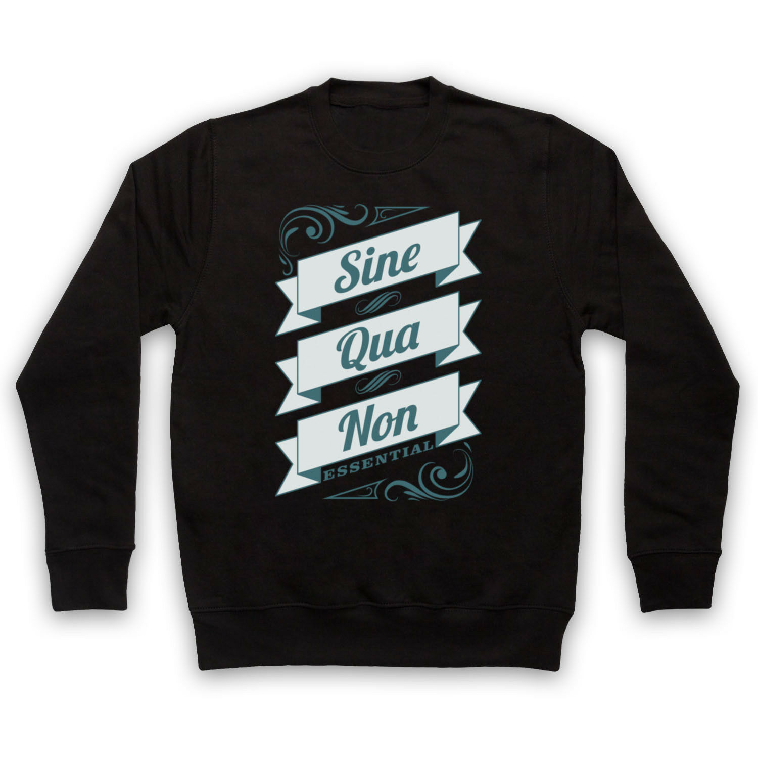SINE QUA NON ESSENTIAL LATIN PHRASE QUOTE ADULTS KIDS SWEATSHIRT
