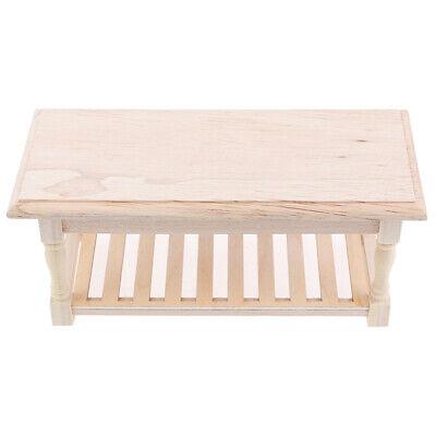 1:12 Puppenhaus Miniatur Holz Beistelltisch Tee Tisch Möbel Dekor rot