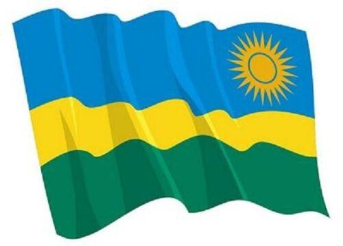 Autocollant flotte Drapeau Rwanda Drapeau Wehend 14 x 10 cm des autocollants