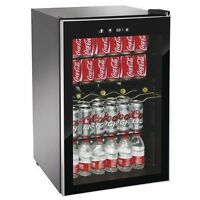 Beverage Wine Cooler Center Igloo Mini Dorm Refrigerator Freezer Black Fridge
