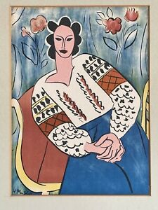 Henri Matisse Lithograph of One of the Stages of La Blouse Roumaine Portrait