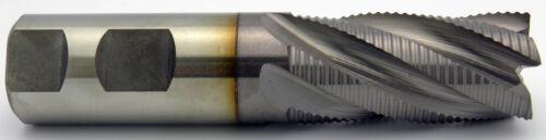 "1/"" 5 Flute 2/"" LOC Cobalt TiCN Fine Pitch Roughing End Mill Center Cut Melin USA"