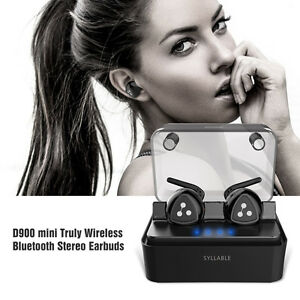Syllable-D900-MINI-Truly-Stereo-Wireless-Bluetooth-Headset-Earphone-Headphone