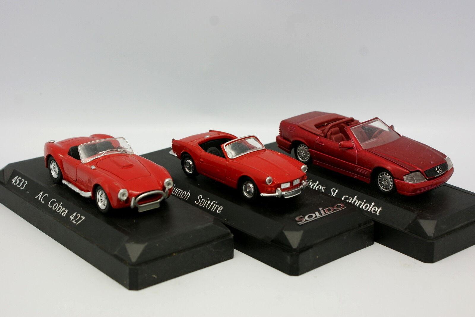 Solido 1 43 - Lot de 3 modèles