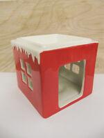 Hallmark Red White Snowy Christmas Home Tea Light Wax Warmer