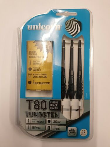 8 flight protectors Unicorn T80 Tungsten darts plus 6 extra shafts,6 flights