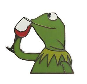 KERMIT Enamel PIN BUT THATS NONE OF MY BUSINESS DRINKING ...Kermit Drinking Wine