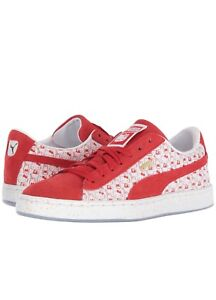 9b91a8ca23ad PUMA x Hello Kitty Junior   Youth Suede Classic Shoes Red US Jr Size ...