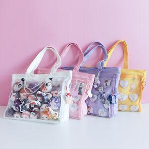 Transparent-Shoulder-Bag-Ita-Handbag-Canvas-Bag-For-Dango-Badge-Comic-Shows