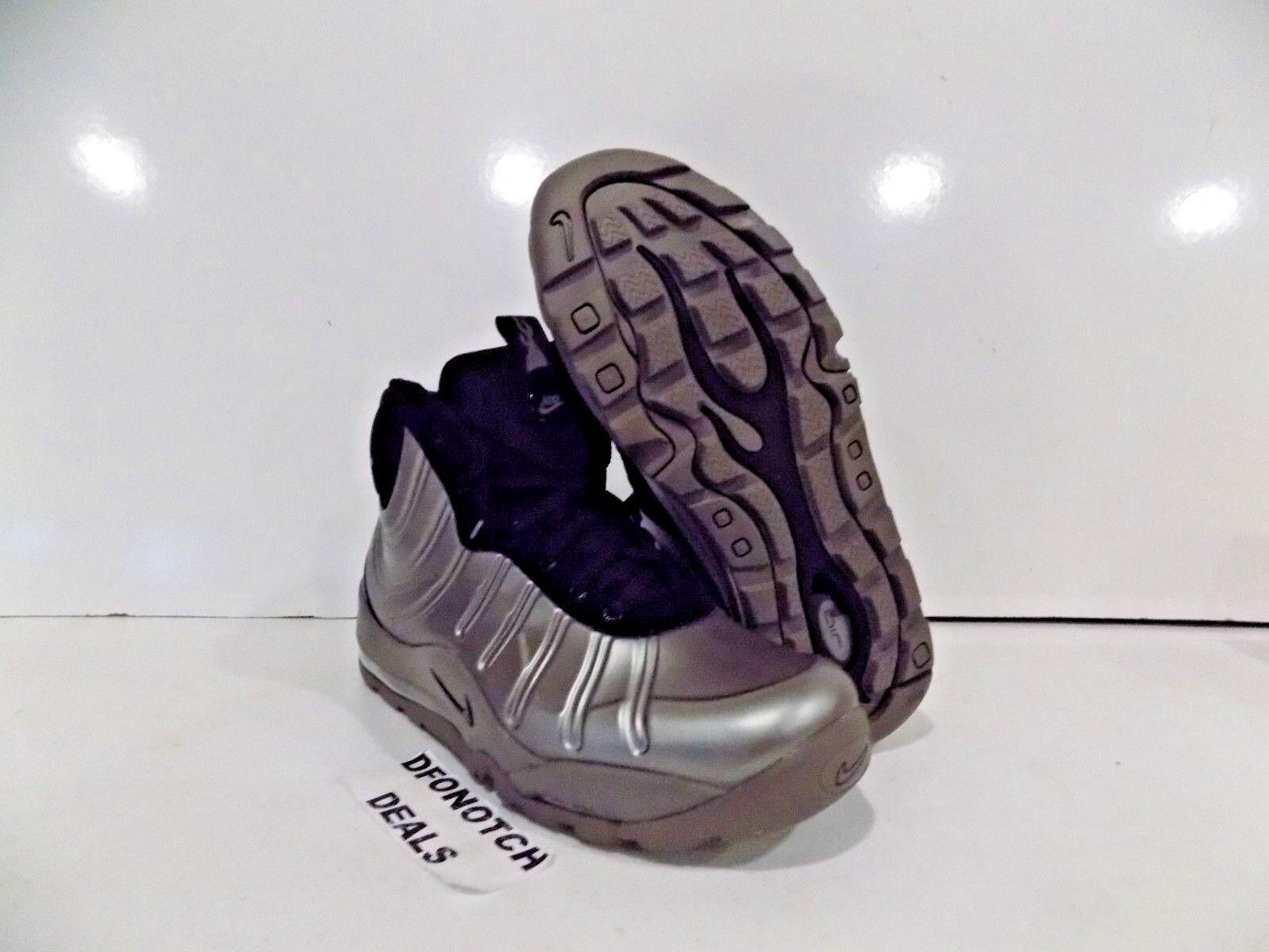 Nike Air Bakin' Posite Men's Sz 8.5-10.5 Silver Black 618056 002 NEW MSRP  225