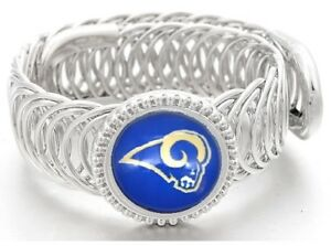 Los-Angeles-Rams-Football-Sterling-Silver-Womens-Mens-Bracelet-GiftP-D11