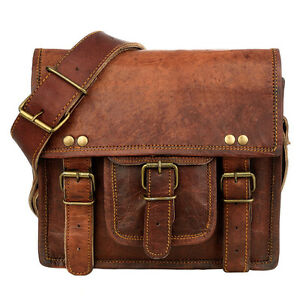 Image Is Loading Fair Trade Handmade Small Brown Leather Satchel