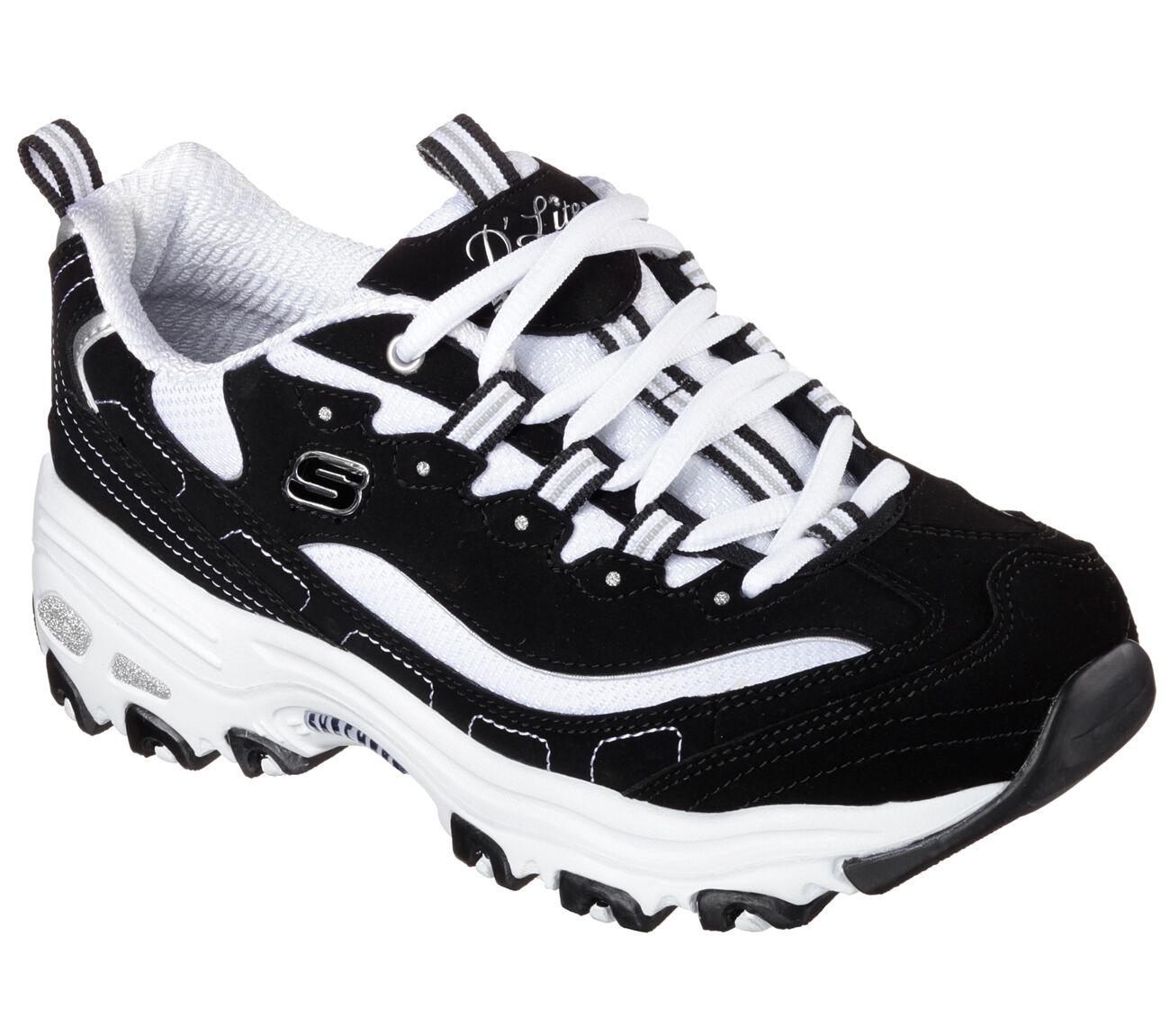11930 BKW Negro Dlites Skechers Skechers Skechers Zapatos Mujer Sport Casual Comfort de espuma de memoria NUEVO  Envío y cambio gratis.