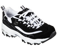 11930 Bkw Black Dlites Skechers Shoes Women Sport Casual Comfort Memory Foam