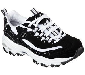 Skechers Black D'lites Shoes Women