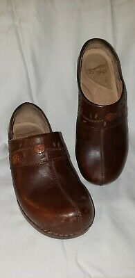 Clothing, Shoes & Accessories Comfort Shoes Dansko Women's Clog Size 6m Us 36 Euro Color Dark Brown With Leather Stitching Let Our Commodities Go To The World