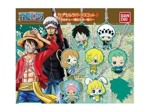 One Piece Monkey D 3 Keychain BANDAI Luffy Rubber Mascot Vol