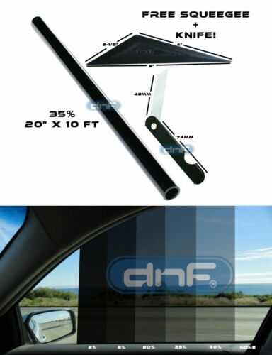 "DNF 2 PLY Carbon 35/% 20/"" x 10 Feet Window Tint Film LIFETIME WARRANTY GUARANTEE"