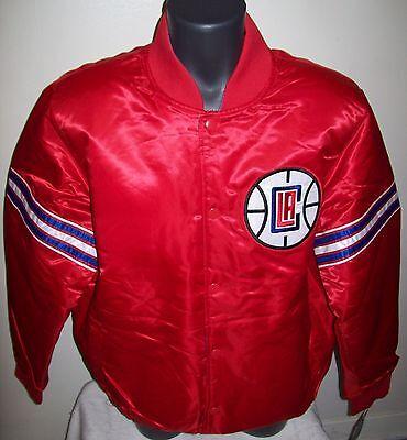 1f15af74 LOS ANGELES L.A. CLIPPERS Starter REVERSIBLE Satin Jacket M L XL 2X BLUE &  RED | eBay