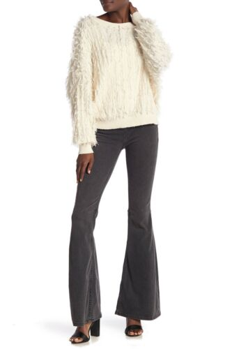 Free People Penny Pull-On Flared Leg Jeans Washed Black Sz 26 /& 29 NWT OB542652