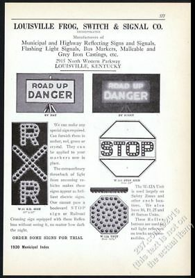 Temperate 1930 Louisville Frog Road Highway Lighted Stop Sign Danger Flasher Print Ad Good For Antipyretic And Throat Soother Collectibles