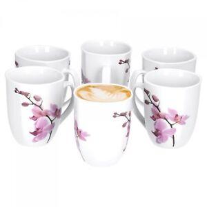 6er set kaffeebecher kyoto orchidee 33cl kaffeetasse tasse. Black Bedroom Furniture Sets. Home Design Ideas