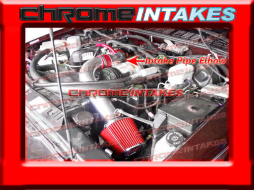 """94 95 96 97 CHEVY S10 PICKUP//ZR2//HOMBRE//SONOMA 2.2 2.2L COLD AIR INTAKE 3/"""" RED"""