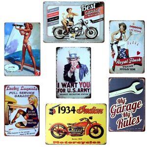 20x30cm Metal Vintage Tin Sign Poster Plaque Bar Pub Club Wall Home