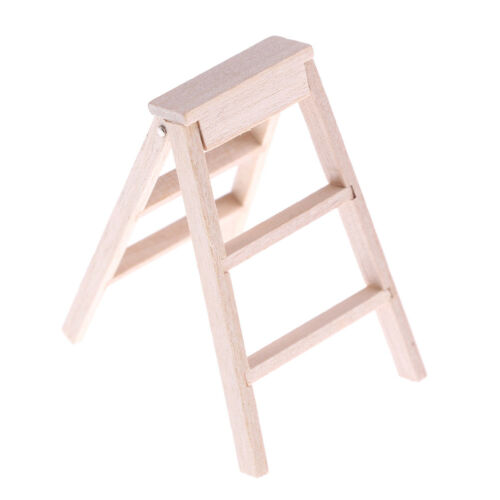 New 1:12 Dollhouse Miniature Furniture Wooden Ladder CJBFDCA