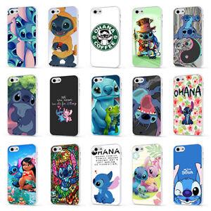 Détails sur Lilo et Stitch Disney Ohana Mignon Blanc Téléphone Étui Housse Pour iPhone 4 5 6 7 8 X- afficher le titre d'origine