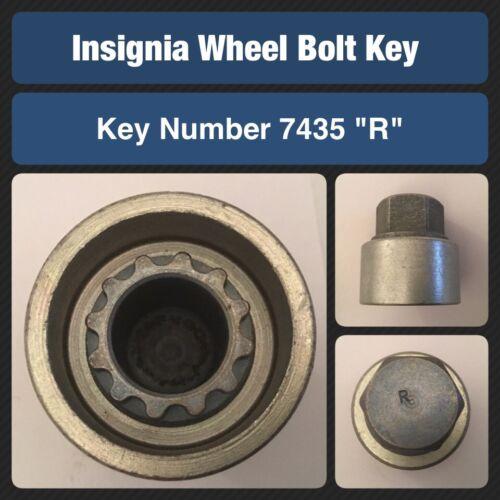 """Genuine VAUXHALL INSIGNIA Bloccaggio Ruota Bullone//dado chiave 7435 /""""R/"""""""