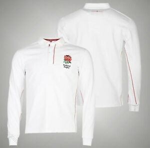 Mens-RFU-Classic-Stylish-England-Long-Sleeve-Rugby-Jersey-Top-Sizes-S-3XL