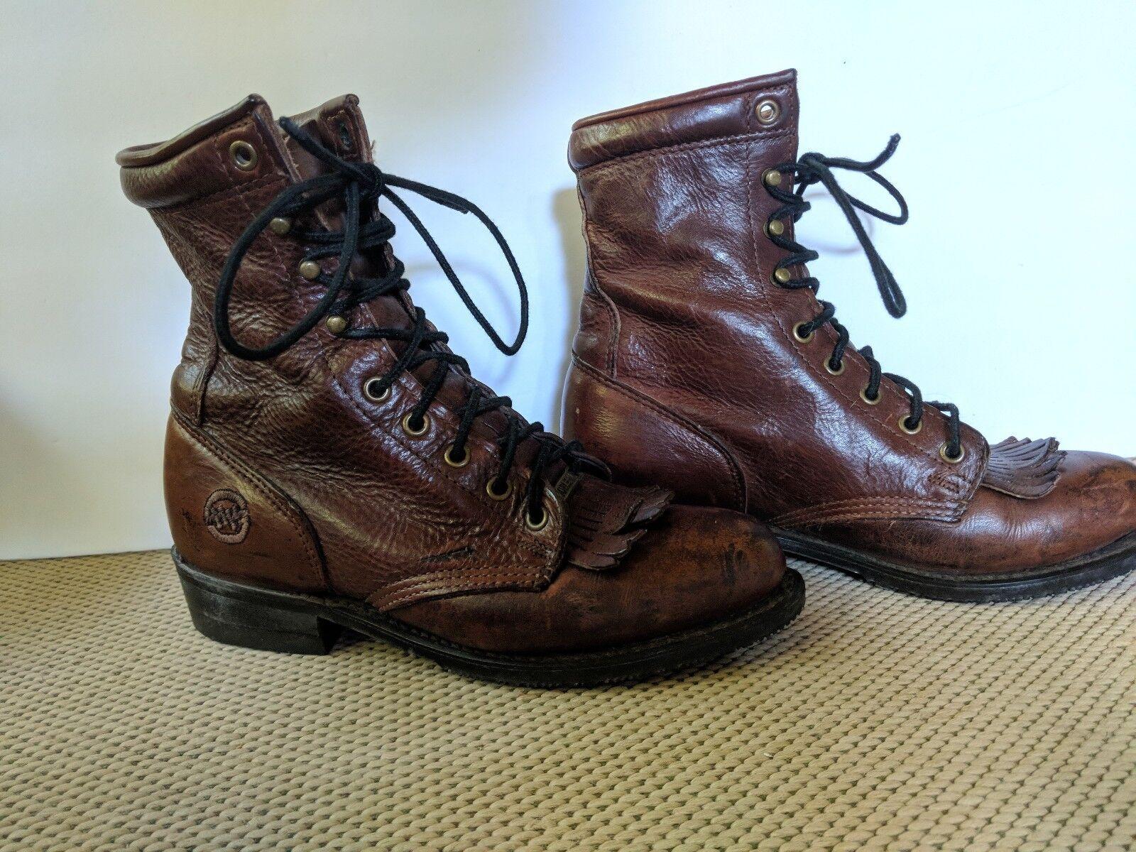 damen Double H Logger Western Cowboy Granny Stiefel Größe 7.5W 7.5W 7.5W Leather 48a933