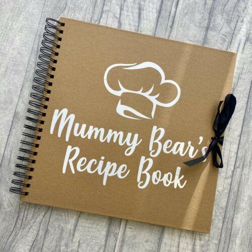Keepsake Recipe Book Cooking Baking Present PERSONALISED RECIPE SCRAPBOOK GIFT