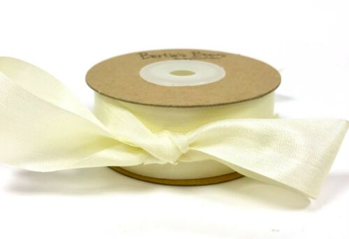 Bertie/'s Bows 100/% Natural Silk-7mm sold by the metre 25mm /& 32mm widths 13mm