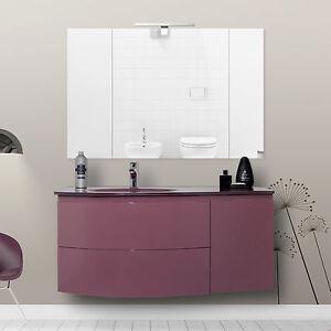 mobile lavabo sospeso arredobagno color marsala laccato lucido ... - Arredo Bagno Marsala