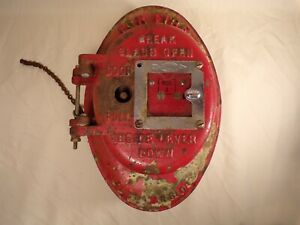 Antique-Vintage-Cast-Iron-ADT-Fire-Alarm-Box-Pat-Date-1908